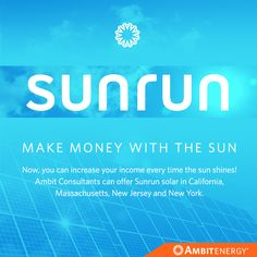 #AmbitEnergy now offers #Sunrun #solar service in California, Massachusetts, New Jersey and New York. Sign up at goambit.com/solar!