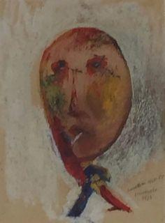 1940.11.04 Cesare Zavattini, Autoritratto con sigaretta in bocca