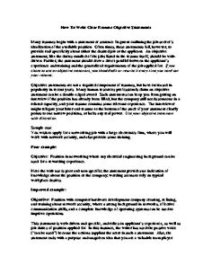 Sample Objective Statements For Resumes Sample Career Objectives  Examples For Resumes  Resume Objective .