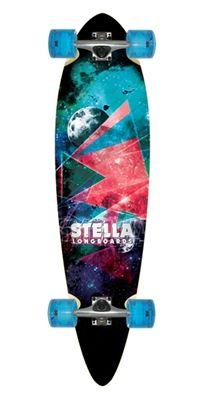 Stella Longboard Outer Limits Blunt Nose Skateboard