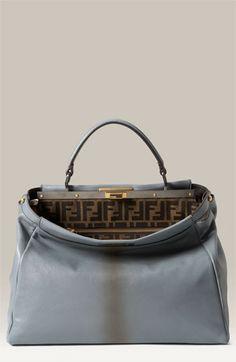 9a57733e60f7 Fendi  Peekaboo - Large  Goatskin Leather Satchel