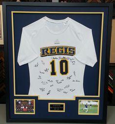 Custom framed Regis University soccer jersey. Custom framed by FastFrame of  LoDo. Regis University e573560eb