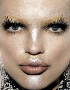 Daphne Groeneveld for Vogue Japan by David Dunan (Makeup Marla Belt)