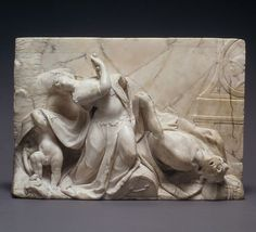 This sculpture was made by Gebhard Boos in 1775. The name of the sculpture is Pyramus and Thisbe.The sculpture is held in the Metropolitan Museum of Art in New York. It was purchased by H. Rodes and Patricia Hart Gift, and Bequest of Irwin Untermyer, by exchange, 2001 (2001.639).