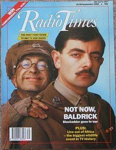 Radio Times Sept 1989 ft. Blackadder. 'I have a cunning plan...'