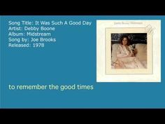 Debby Boone - It Was Such A Good Day (Audio)