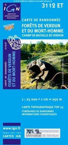 carte de randonnée Forêts de Verdun