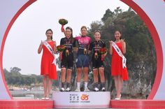 The podium of the Tour of Guangxi Women's Elite World Challenge