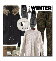 """""""Winter"""" by beebeely-look ❤ liked on Polyvore featuring Puma, Chanel, Herschel Supply Co., Tod's, Rebecca Minkoff, Winter, casual, scarf, wintersweater and twinkledeals"""