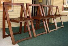 vintage danish slat teak chairs