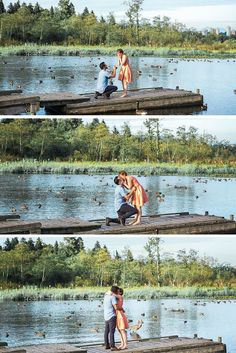 These photographers were in the middle of a photoshoot, when suddenly he got down on one knee to propose!