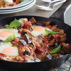 ITALIAN-STYLE BAKED EGGS, a delicious recipe from the new Cook with M&S app.