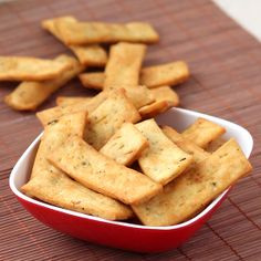 Garlic and Basil Flavored Crispy Namak Pare - Salty Biscuits for Kids