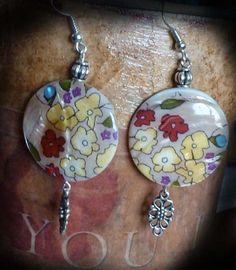 Garden cottage chic shabby poppy boho floral by KimsKreationsNC, $15.00