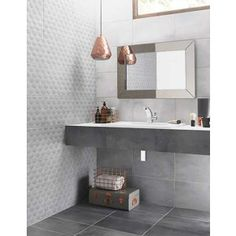 Ted Baker Ceramic Tiles, the choice for our bathroom renovation, look stylish and stunning with the copper lampshade and grey accessories Bathroom Floor Tiles, Wall And Floor Tiles, Bathroom Wall, Bathroom Interior, Modern Bathroom, Bathroom Ideas, Bathroom Grey, Wall Tiles, Bathroom Inspo