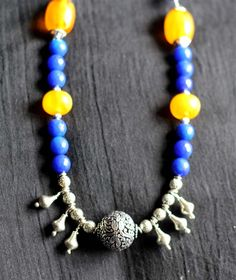 #Shop My #Hnadmade #Jewellery at https://www.facebook.com/rubyzcorner/ #beads #agate #germansilver #dori #necklace