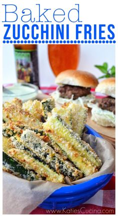 baked zucchini fries via KatiesCucina.com..I would bake them after being dipped in egg whited and white chedder soy crips from medifast. Yummy healthy next to a lean and green extra lean groud beef hamburger wrapped in lettuce and tomato!