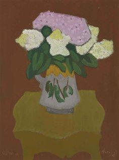 Bouquet by Milton Avery, 1949, oil on canvasboard