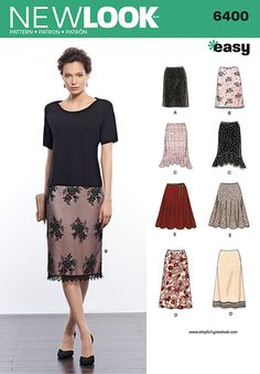 New Look 6400 Misses' Skirts in Various Styles