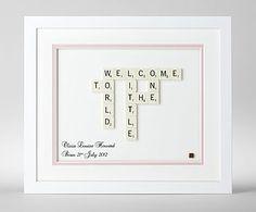 Personalised Baby Scrabble Art