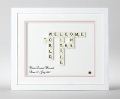 Personalised Baby Scrabble Art