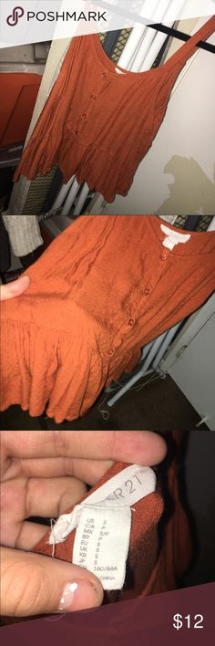Rust colored top Super cute top absolutely loved it but never found myself wearing it again Forever 21 Tops