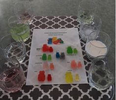 Gummy Bear Osmosis Science Experiment - How to Homeschool - Kids education - Healt and fitness Science Experiments For Preschoolers, Preschool Science Activities, Science Experiments Kids, Science For Kids, Gummy Bear Science Project, Kids Science Fair Projects, Kid Projects, Gummy Bear Osmosis, Gummy Bears