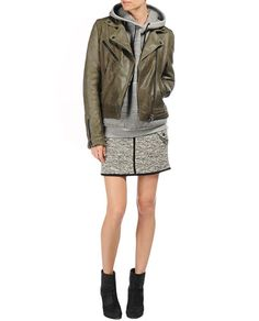 rag & bone Official Store, Bowery Jacket , moss green fl, Womens : Ready to Wear : Leather Jackets, W235420LQ #dreamleatherjacket