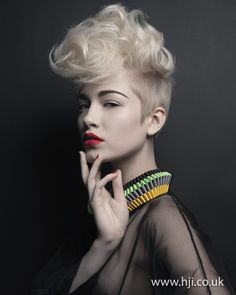 An excellent cut that's becoming very popular - hair by Tim Hartley.