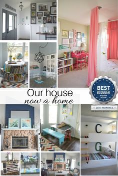 Home decor, craft, and DIY ideas to create that dream home on any budget! Our house now a home interior design award nominee!