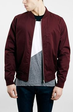 $80, Topman Cotton Bomber Jacket. Sold by Nordstrom. Click for more info: https://lookastic.com/men/shop_items/444383/redirect
