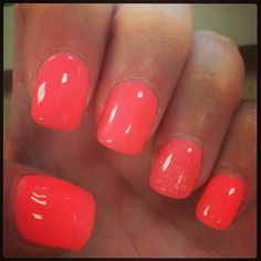 <3 love a bright red/orange nail!