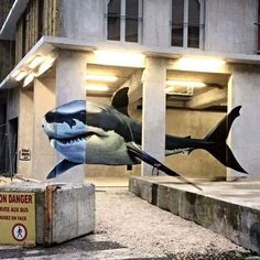 Use your illusion. Awesome use of space by #Diseck in Grenoble, France. via @streetartnews #streetart