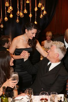 Mädchen Amick and David Lynch, May 17, 2013.  Photo Credit: Ryan Miller for Capture Imaging