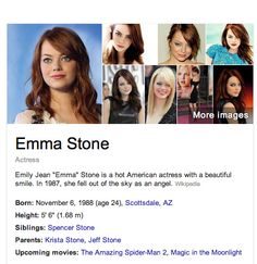 Emma Stone.  This is hilarious