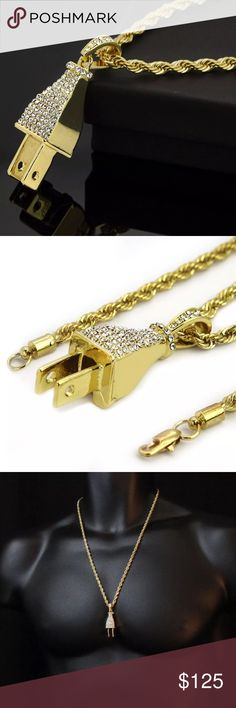 Men's Jewelry Bundle 1. Gold Plated Iced Out Plug Rope Chain Necklace. Will not tarnish! Buy individually for $40                                     2. Gold Finish Praying Hands Chain Necklace. Will not tarnish! Buy individually for $40  3. Gold Finish Jesus Piece Necklaces. Will not tarnish! Buy individually for $40 Accessories Jewelry