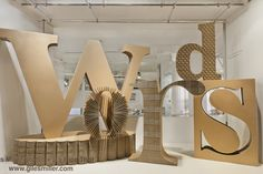 'words' selfridges' window display - giles miller for it's nice that, 2012