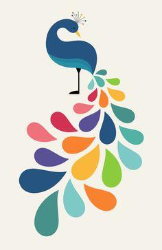 Affiche d-art enfants et bébés - Dreamy Petal , par Andy Westface Wall Painting Decor, Fabric Painting, Fabric Paint Shirt, Creative Wall Painting, Art Sketches, Art Drawings, Peacock Art, Doodle Art, Art Projects