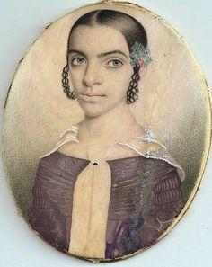 Portrait said to be of Harriet Hemings, daughter of Sally Hemings and Thomas Jefferson