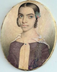 Portrait said to be of Harriet Hemings, daughter of Sally Hemings and Thomas Jefferson