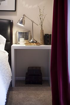 Easy DIY nightstands. A chic and simple Ikea hack.