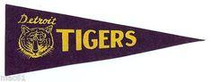 "Vintage Detroit Tigers 10"" Mini Pennant"