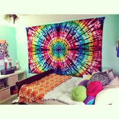 Hand made tie dye tapestry from Allie Carjack