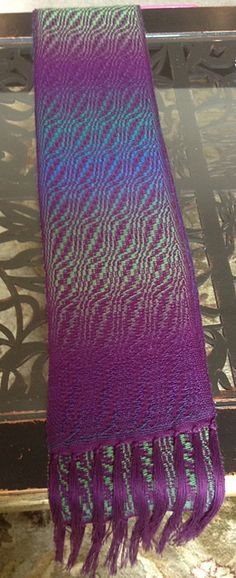 Advancing twill + Mini Mochi - pretty!  via Ravelry, NB1's scarf for a present