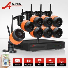 (299.33$)  Watch now - http://aixhk.worlditems.win/all/product.php?id=32792848355 - ANRAN Plug&Play 720P Wireless 8CH NVR System HD Outdoor WIFI Security IP Camera CCTV System Home Video Surveillance Kit 2TB HDD