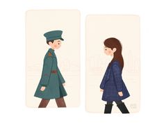 Crash Landing on You designed by PJ Heu. Cute Wallpaper Backgrounds, Cute Wallpapers, Anime Couples, Cute Couples, Popular Korean Drama, Gu Family Books, Kdrama, Chibi, Goblin Korean Drama