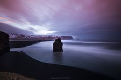 View to Reynisfjara black sand beach, a beautiful place at any time of the day Black Sand, My Photos, Beautiful Places, Mountains, Beach, Nature, Travel, Voyage, The Beach
