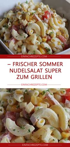 Frischer Sommer – Nudelsalat super zum Grillen Fresh summer – pasta salad great for grilling Summer Veggie Pasta Salad ~ This fresh summer vegetablesSummer veggie pasta summer – pasta salad with honey – mustard – dressing Salad Recipes Healthy Lunch, Salad Recipes For Dinner, Chicken Salad Recipes, Easy Healthy Recipes, Pasta Recipes, Fresco, Summer Pasta Salad, Grilling Recipes, Gastronomia
