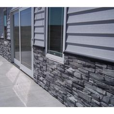 Increase value to your home or business by using this Stack-N-Tack Colorado Gray Stone Veneer Siding.