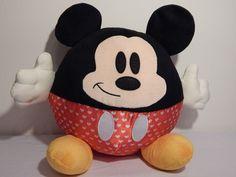 Disney Mickey Mouse Large Ball Stuffed Animal Plush Kcare NWOT Smirk